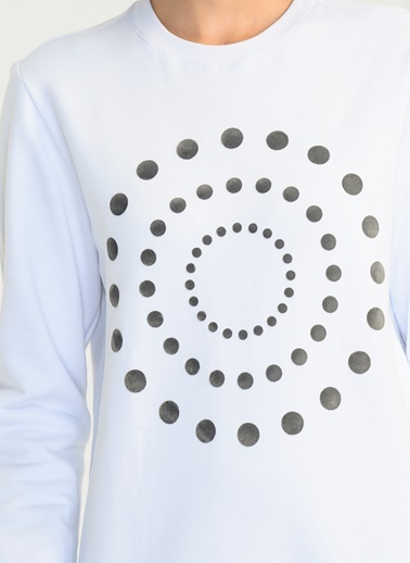 Kadife Baskılı Sweatshirt-People By Fabrika